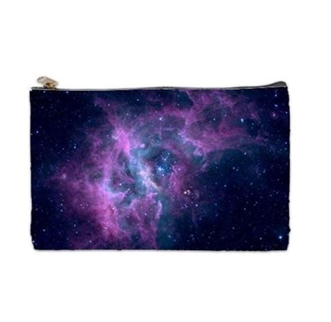 galaxy nebula space cosmetic bag makeup bag by toostys on