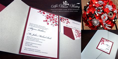 wedding invitation design red motif floral theme designs a vibrant wedding