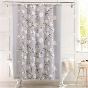 Cherry Blossom Curtains Better Homes And Gardens Cherry Blossom Fabric Shower Curtain Walmart
