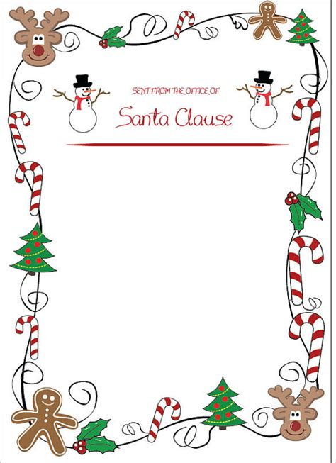 christmas letter template 9 free word pdf documents