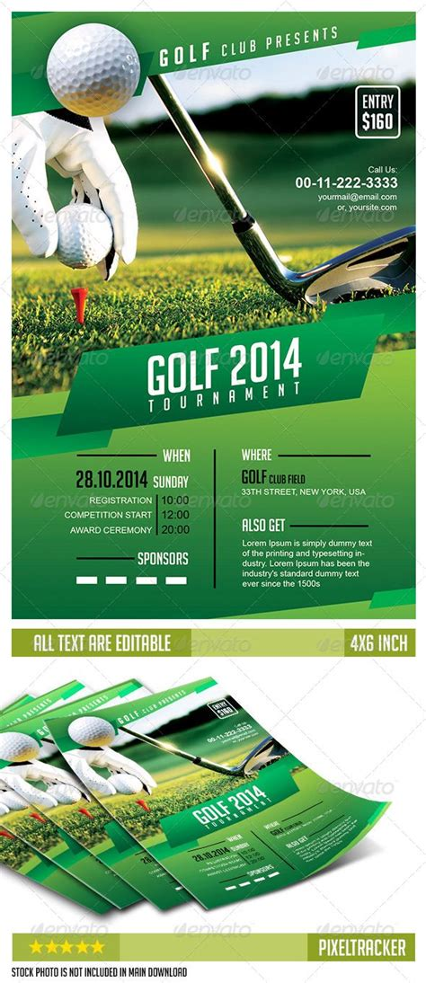 Golf Tournament Flyer Template No Model Required Download The Full Psd Flyer Here Http Golf Design Template