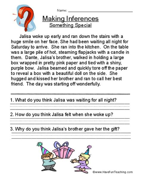 Drawing Conclusions Worksheets 2nd Grade by Drawing Conclusions And Inferences Worksheets Free