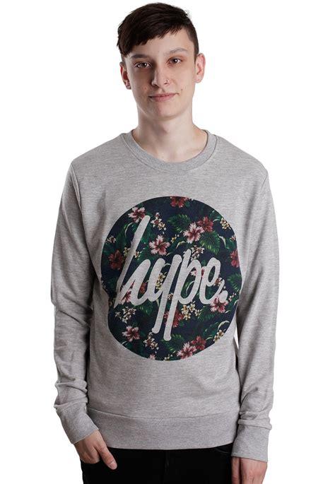 Sweater Grey Flower hype flower circle grey sweater streetwear shop impericon uk