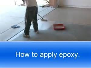 how to apply rust oleum garage floor epoxy youtube