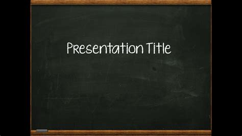 Superb Powerpoint Free Template Blackboard Chalkboard Powerpoint Template