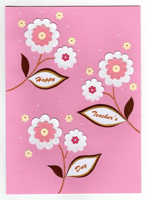 Teachers Day Greeting Cards Handmade - handmade greetings card s day cards azlina