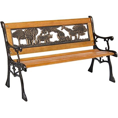 kids benches best choice products outdoor safari animals kids aluminum