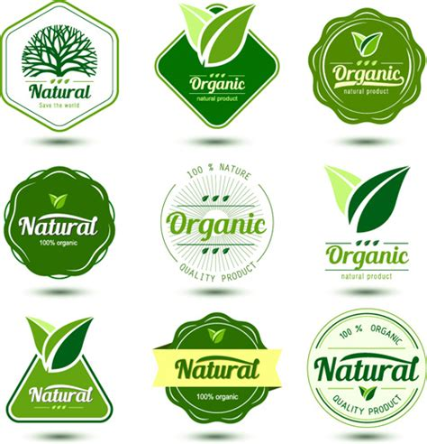 design logo label natural product labels design vector free vector in