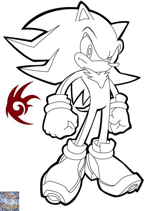 shadow the hedghog lineart by kingvegito on deviantart