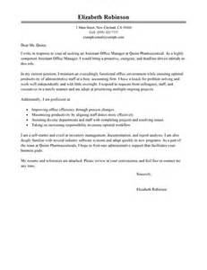 cover letter exles for office manager sle office manager cover letter shishita