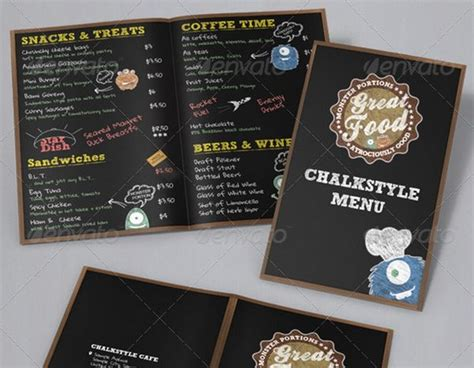free chalkboard menu template food menu template on menu templates