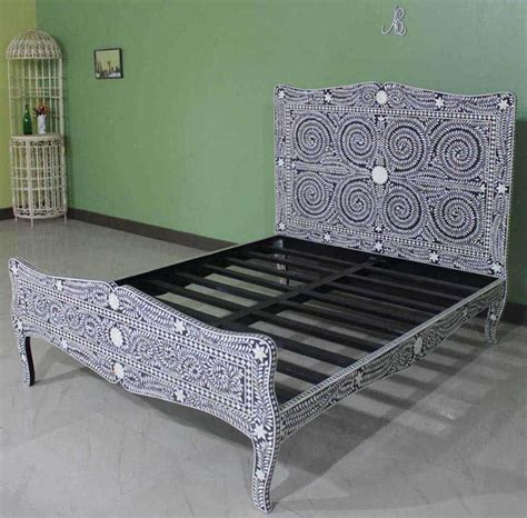 bone inlay bed bone mother  pearl inlay furniture store