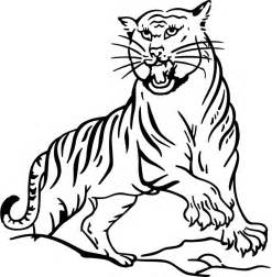 tiger colouring pages