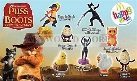 mcdonald happy meal toys puss in boots completed set 8 happymeal collection toys hobby