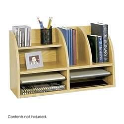 Desk Organizers Safco 9417mo Desktop Desk Organizer Medium Oak Atg Stores