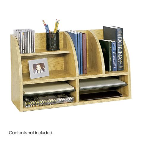 Safco 9417mo Desktop Desk Organizer Medium Oak Atg Stores Oak Desk Organizer