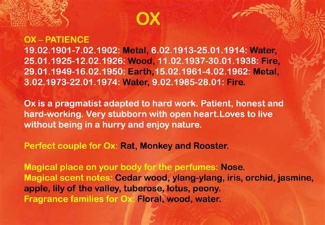 year of the ox patient honest and hardworking with a