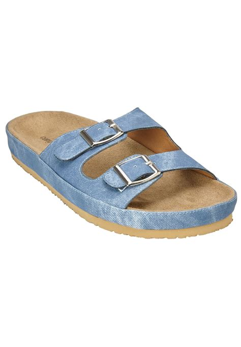 maxi footbed sandal by comfortview 174 plus size sport sandals within