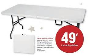 carrefour promotion table festive pliable produit