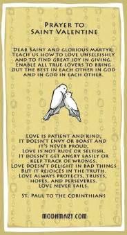st prayer card
