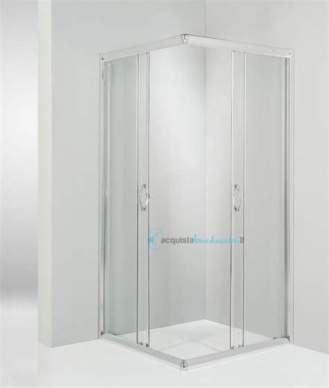 piatto doccia angolare 65x65 box doccia angolare porta scorrevole 65x65 cm trasparente