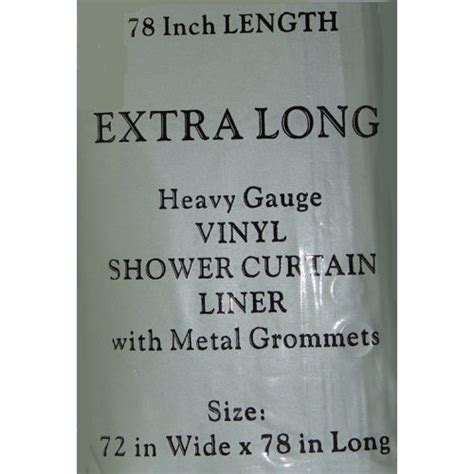 shower curtain liner 78 inches long 72 inch wide by 78 inch long heavy gauge vinyl shower