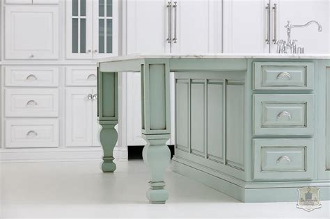Green Kitchens With White Cabinets Green Kitchen Island With White Cabinets Transitional Kitchen