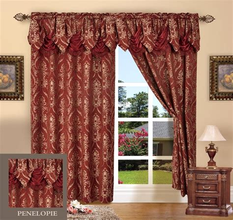 long valance curtains 2 piece penelopie curtain panels with attached austrian