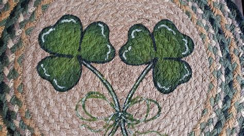 shamrock rug shamrock braided placemat by capitol earth rug the patch