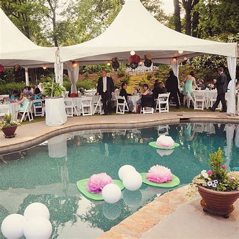 pool theme decorations best 25 backyard wedding pool ideas on pool