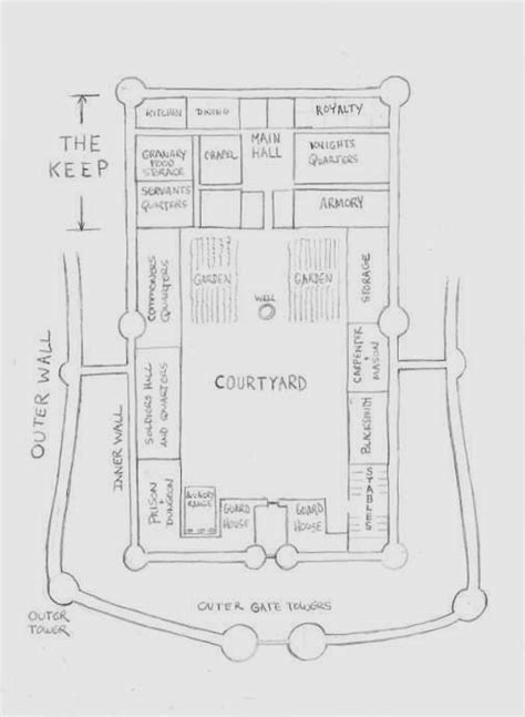 medieval castle floor plans a larger castle floor plan