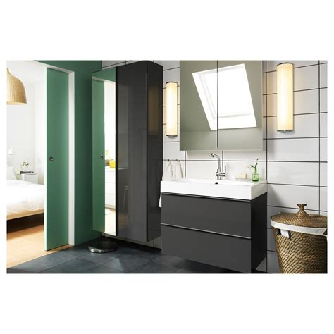 Ikea Vanity Unit Bathroom Godmorgon Mirror Cabinet With 2 Doors 80x14x96 Cm Ikea