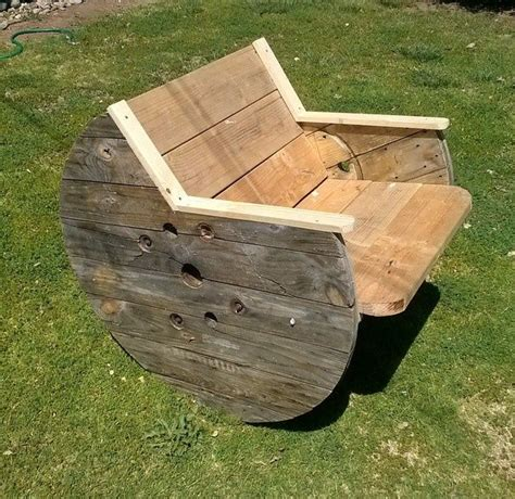 Wooden Spool Chair wooden spool furniture feelin crafty