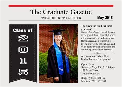 college newspaper newspaper graduation announcement high school and