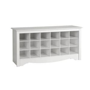 shoe storage home depot prepac monterey shoe storage cubbie bench wss 4824 the