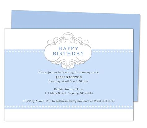 free sample invitation templates word publisher templates