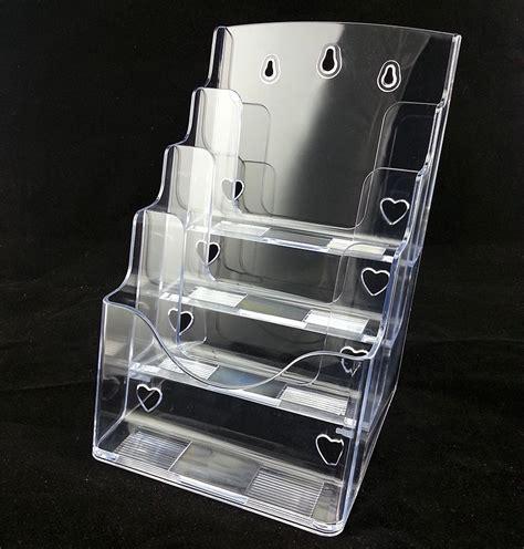 Rak Acrylic Display 4 clear a4 4 tiers plastic acrylic brochure literature phlet leaflet display holder racks stand
