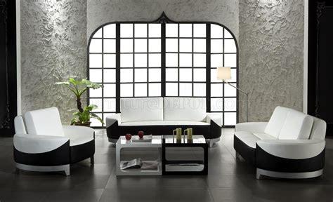 leather ultra modern 3 piece living room set paris black white and black leather 3 piece modern living room set 0893