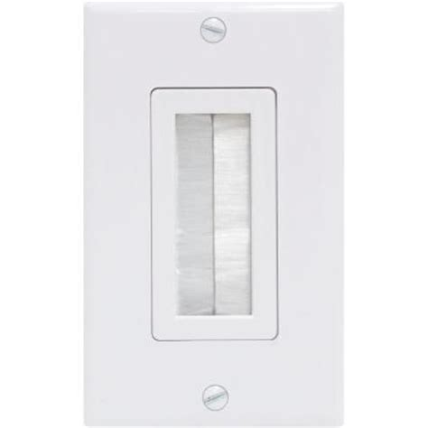 ge ultra pro 1 brush white wall plate 87697 the home depot