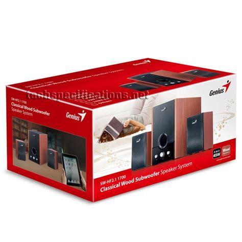 Genius Sw 2 1 360 Speaker genius sw hf 1700 2 1 pc speakers tech specs