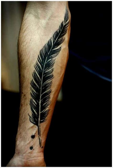 Feather Tattoo Man | feather tattoos for men ideas and designs for guys