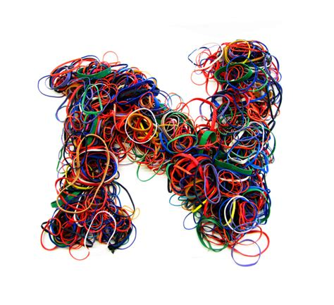 rubber st alphabet letters rubber bands colossal