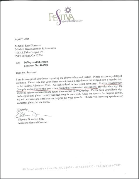 cancellation letter for timeshare contract template template cancellation letter