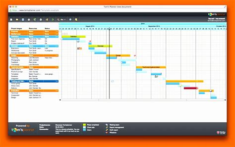 6 Project Management Timeline Excel Template Exceltemplates Exceltemplates Gantt Chart Powerpoint Template Free