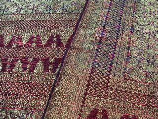 Songket Tenun Asli Palembang Bungo Cino Merah Pengantin 69 palembang on