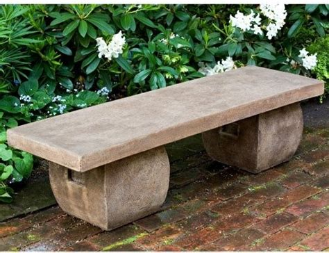 garden stone benches cania international ryokan cast stone backless garden