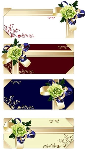 Flower Gift Card - flower ribbon gift card vector free vector in adobe illustrator ai ai vector