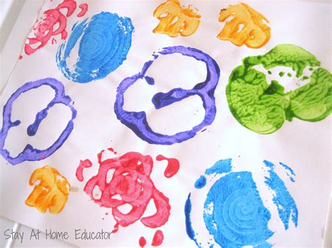 printing with fruit and vegetables fruit and vegetable printing stay at home educator