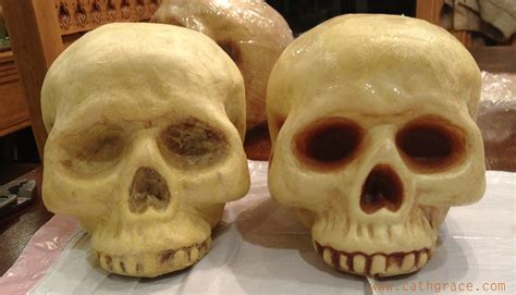 How To Make Paper Mache Skulls - decor just a of years late cathgrace