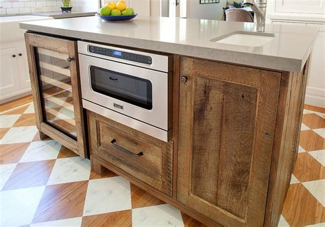 Wooden Kitchen Island 20 Gorgeous Ways To Add Reclaimed Wood To Your Kitchen